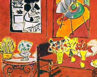 Henri Matisse Large Red Interior