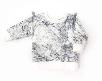 Lightweight Sweatshirt printed marble baby and child-