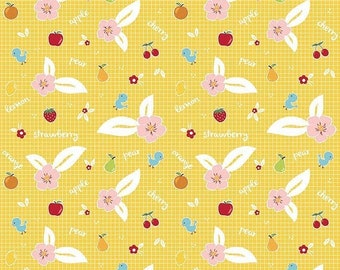 EXTRA 20 30% OFF Riley Blake Designs Sweet Orchard Fruit Yellow