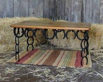 Rustic Horseshoe Coffee Table