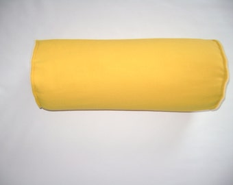 Yellow Bolster Pillow Cover, 6''x16'' Solid Corn Yellow Bolster Pillow Cover, Decorative Bolster Pillow Cover
