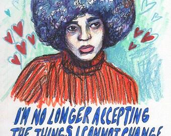 """Angela Davis (8""""x10"""" print)"""