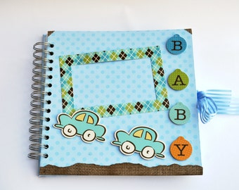 Handmade Baby boy mini album / scrapbook album / photo album / memory book/ First birthday gift