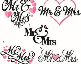 Wedding Decal , Monogram Sticker, Monogram Decal, Car, Yeti/tumbler, Laptop, Phone, iPad or Tablet Vinyl Decal Custom Teacher gift