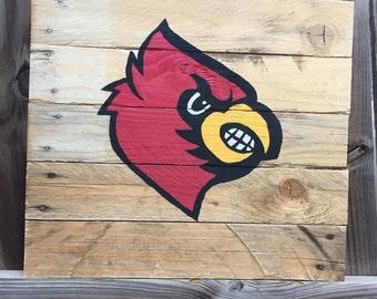 Hand painted Cardinal wall decor