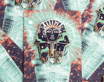 Cosmic Pharaoh Enamel Pin, Enamel Pin Set, Egyptian Jewelry, Pharaoh Jewelry, Enamel Pin, Lapel Pin, Egypt Enamel Pin