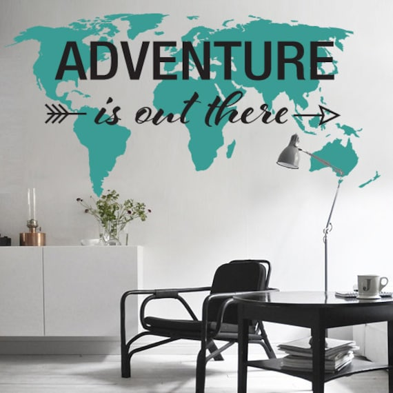 Adventure is out there world map decal large world map adventure is out there world map decal large world map vinyl wall sticker world map wall sticker publicscrutiny Images