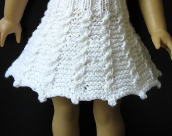 KATHY made me do it 18 inch American Girl AG doll SKIRT Knitting Pattern (048)