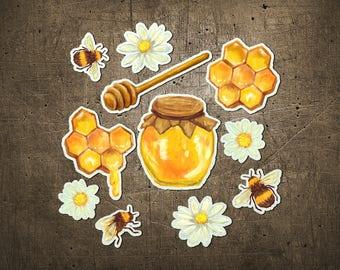 "Printed Chipboard Shapes #005 ""Organic Honey"""
