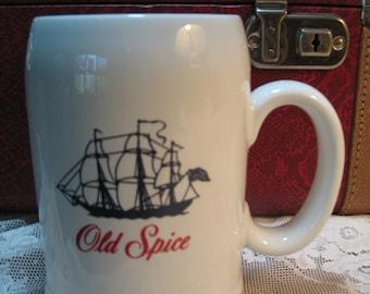 Old Spice vintage mug Cup. Cup shaving, shaving mug.