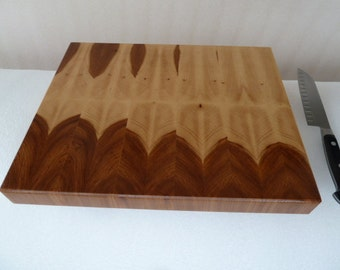 Straight Bookmatch Hickory End Grain Chopping Block