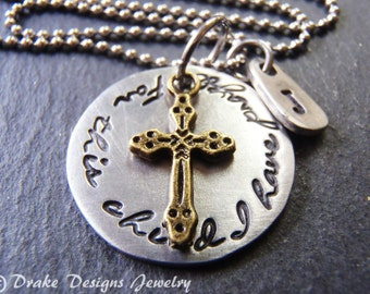 Personalized For this child I have prayed necklace