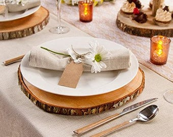 10\  Rustic Wood Slices-Wood Slice Charger-Wedding Decor-Wood Slices For & Wood chargers | Etsy