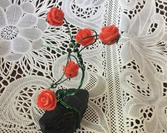 Small wire rose bush