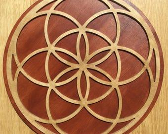 Seed of Life - Wood Mandala