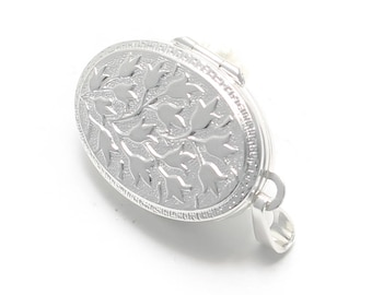 925 sterling Silver Medallion with floral vine pattern