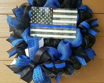 Law Enforcement Wreath; Police Wreath; LEO Wreath