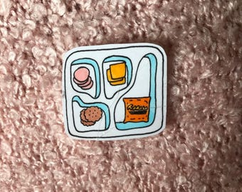 cute hand-drawn lunchable sticker