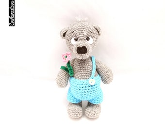 Amugurumi Teddy Bear, soft toy, hand made, crochet