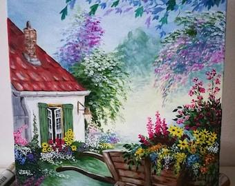 A Little House In The Flower Garden