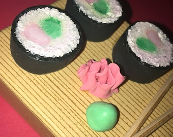 Clay Sushi Roll Tray