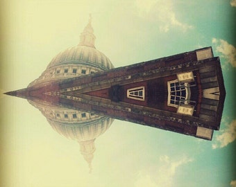 City landscape miniature photography - St' Paul's Cathedral London - kaleidoscope