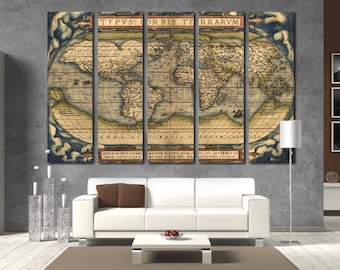 Old world map wall art vintage world map canvas print wall art old world map wall art vintage world map canvas print wall art world map wall decor gumiabroncs Images