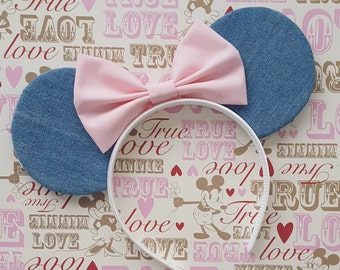 Light Denim Mouse Ears