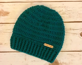 Messy Bun Crochet Beanie, Winter Hat, Messy Bun, Crochet, Gifts for her, Christmas Gifts, Stocking Stuffer, Holiday Gifts, Winter Fashion
