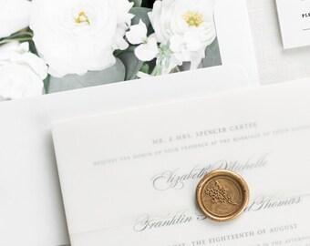 Timeless Elegance Floral Wedding Invitations - Deposit