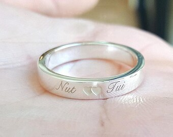 Personalized Stackable Name Ring - Custom ring - Personalized Engraved Ring - Promise Ring - Silver Stacking Rings - Your Name Jewelry