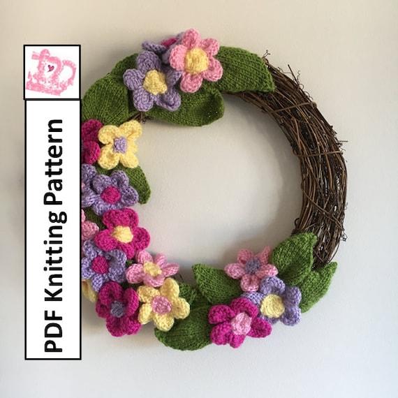 Flower Wreath Knitted Wreath Summer Decoration Spring