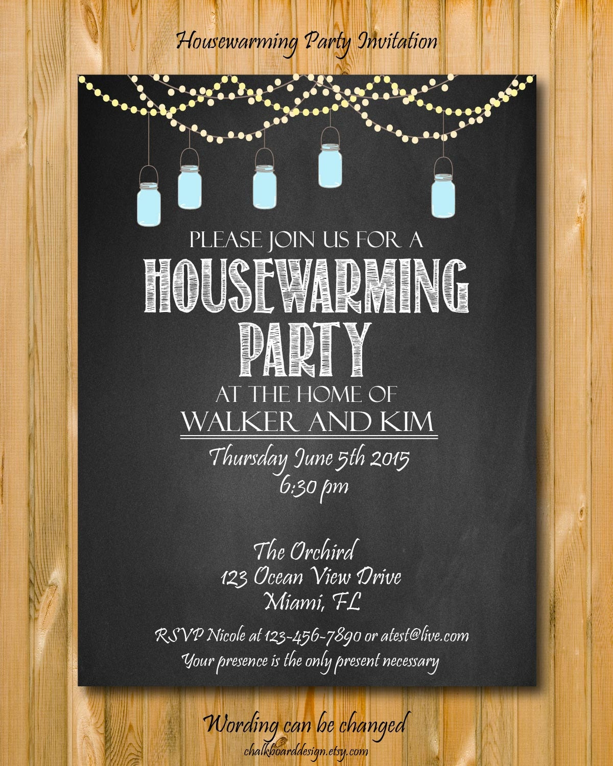 Housewarming party invitation DIY Party invitation