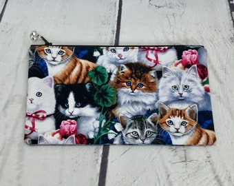 Kittens notions or cosmetic bag