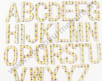 Alphabet en carton - ARLEQUIN- x26pcs