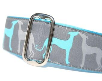"1.5"" Dog Collar Hound Amore Aqua - Choose Your Collar Style!"