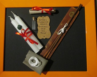White magic ritual Pack attracts financial wealth and material, promotes gains games esoteric, occult, wicca, pagan