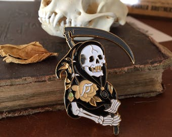 "Memento Mori - 2"" collectible lapel pin - The Reaper"