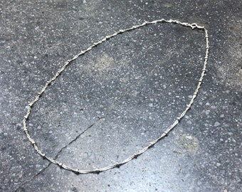 Vintage Twisted Sterling Silver Chain