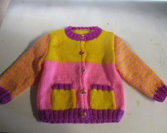 baby Cardigan knitted by hand