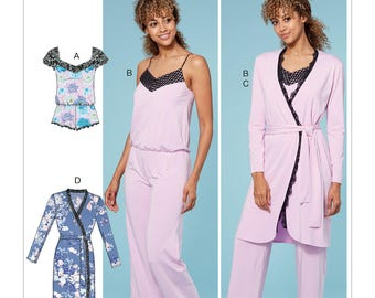 McCall's Pattern M7698 Misses' Lounge Romper, Jumpsuit, Robes and Belt