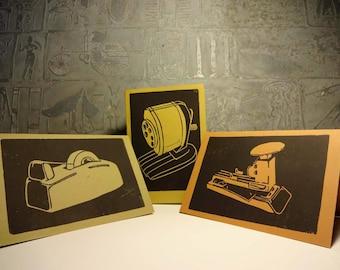 Desk Set Cards, 3 w/envelopes
