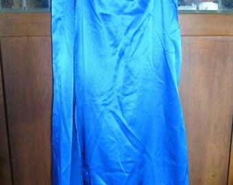 "NEW Original Design by *Setareh* -- ""Zeki Skirt""-- sz Medium blue satin Belly Dance Performance Costume Cabaret"
