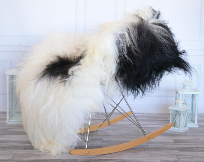Icelandic Sheepskin | Real Sheepskin Rug | Ivory Black Sheepskin Rug | Fur Rug | Christmas Decorations #ISLA13