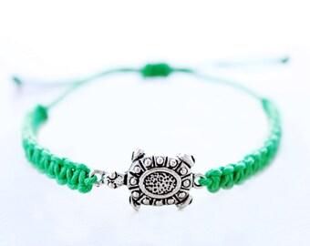 Turtle Hemp Bracelet - Hemp Jewelry
