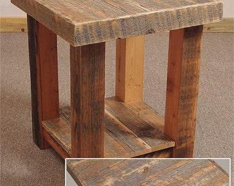 Reclaimed barn wood Rustic Heritage End Table