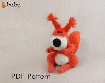 Crochet squirrel PATTERN Amigurumi squirrel pattern Woodland animal pattern Crochet toy pattern DIY crochet tutorial Crochet toy tutorial