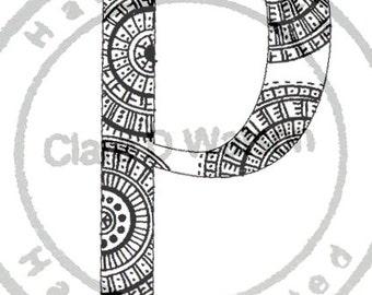 Alphabet Art Print ( P - T )