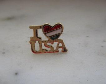 "Vintage Avon ""I Love USA"" Tac Pin - Lapel Pin"