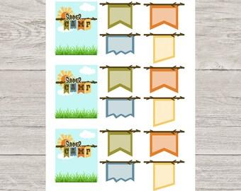 Summer Camp Planner Stickers